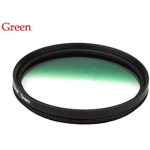 Market&YCY Green Gradient Filter for Canon Nikon Sony, All Brands of 58mm Digital SLR Camera Lens