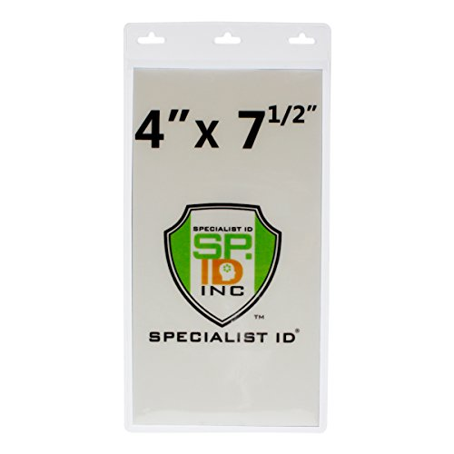 Bulk 100 Pack - Vertical Oversize 4X7 Inch - Extra Large Credential or Ticket Holder for Pit Passes & Special Events (4 X 7 1/2 Inch Insert) by Specialist - Event Special Ticket