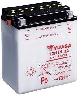 Motorrad Batterie Yuasa 12n14 3a Offen Ohne Säure 12v 14ah Cca 125a Maße 136x91x168mm Auto