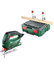 Bosch Home and Garden PST 700 S-Boxx Elektrikli Dekupaj Testeresi, Yeşil, 500 W, 1.7 KG, Systembox, Ahşap Kesim, Aluminyum Kesim