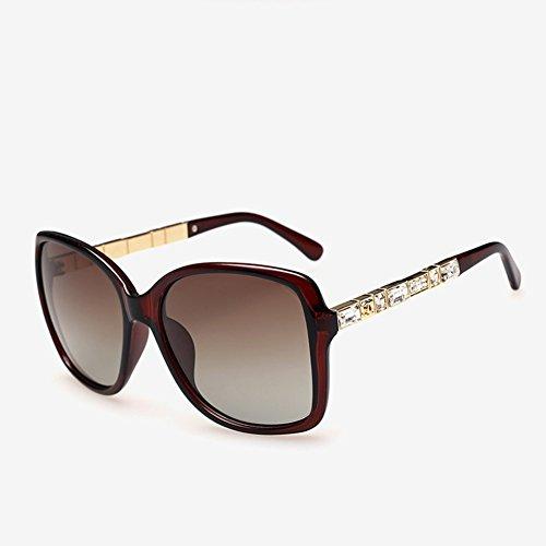 clásico sol sol mujer de 03 polarizadas 03 de marco de gafas espejo conducción gran de CJ Gafas nuevas de wBqOz