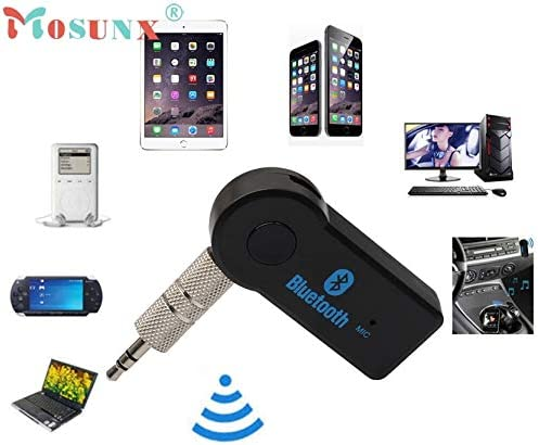 Cable Length: None, Color: Black ShineBear Wireless Bluetooth 3.5mm Car Aux Audio Stereo Music Receiver Adapter+Mic for PC SZ03011.1