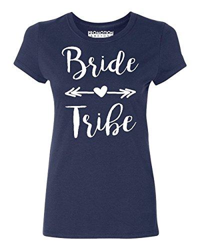 Bride Tribe (White) Wedding Bridal Party Women's T-Shirt, XL, -