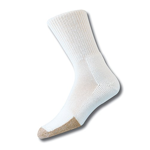 Athletic Tennis Crew Socks - Thorlos Thick Padded Tennis Crew Sock , White, L