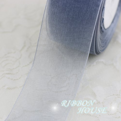 (FunnyPicker (10 Yards/Lot) 2''(50Mm) Organza Ribbons Wholesale Gift Wrapping Decoration Christmas Ribbons Silver)