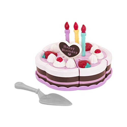 Play Circle By Battat AEUR Princess Birthday Party 24 Piece Pretend Cake With Candles Dishes And Tiara Food Sets For