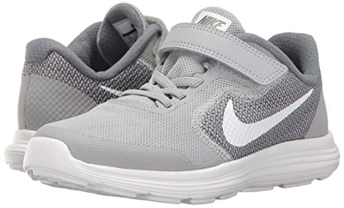 NIKE Kids' Revolution 3 (Psv) Running-Shoes, Wolf Grey/White/Cool Grey, 1.5 M US Little Kid by Nike (Image #5)
