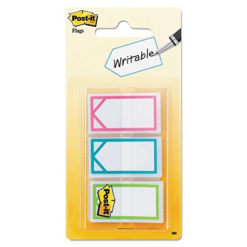Post-it 682ARROW Arrow 1 Page Flags, Three Assorted Bright Colors, 60/Pack 3M