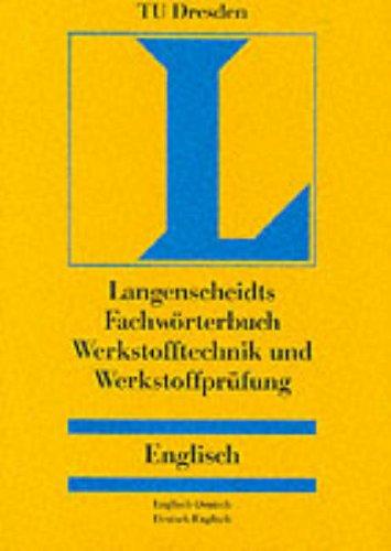 Langenscheidts Fachwörterbuch, Werkstofftechnik, Werkstoffprüfung, Englisch-Deutsch/Deutsch-Englisch (Englisch) Gebundenes Buch – 1. März 1998 Routledge R Wicaz Werkstoffprüfung Verlag Langenscheidt Fachv.