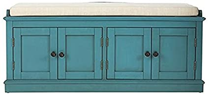 Laughlin Storage Bench, 20u0026quot;Hx47u0026quot;Wx18u0026quot;D, ANTIQUE BLUE