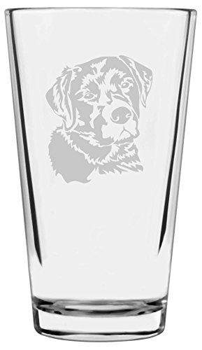 Labrador Retriever Dog Themed Etched All Purpose 16oz Libbey Pint Glass