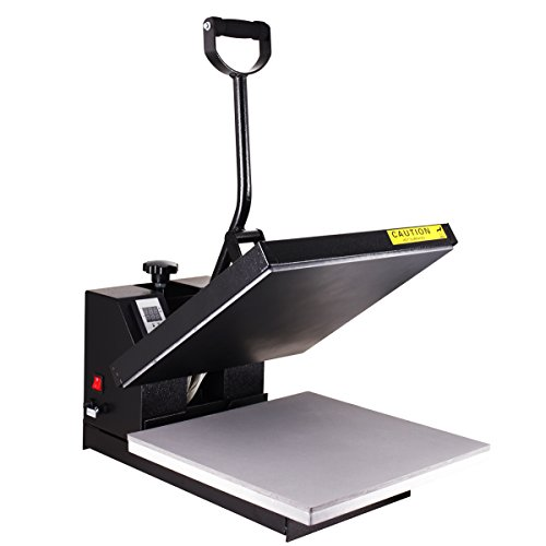"PowerPress Industrial-Quality Digital Sublimation T-Shirt Heat Press Machine, 15""x15"", Black"