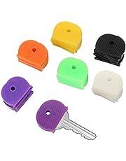 BKAUK 30 Unidades de Fundas para Llaves de Colores para Cabeza/Tapas/Etiquetas/marcadores de identificación, Decoraciones Mixtas