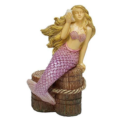 Woodland Knoll Miniature Fairy Garden Listening to The Ocean Mermaid