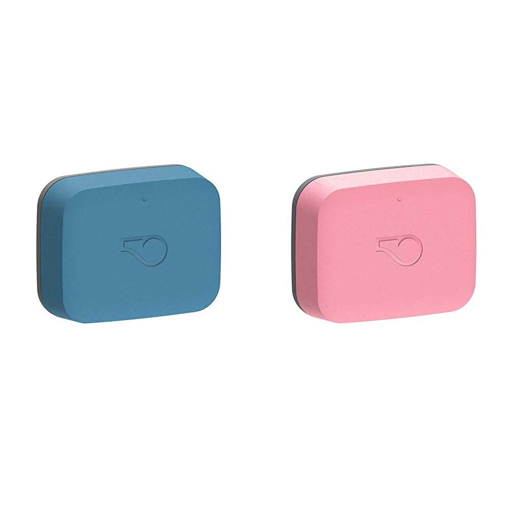 Whistle Go Health and Location Tracker for Pets - Blue/Blush - 2 Pack by Whistle