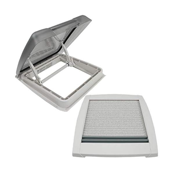411oHvKaVUL MPK VisionStar M pro getönte Klarglas Dachluke Dachfenster Dachhaube 40 x 40 cm in signalweiß