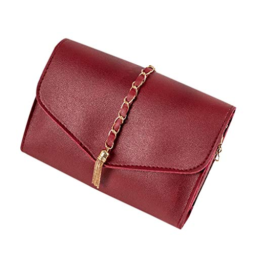 BOLUBILUY Lightweight Small Crossbody Bags for Women,Stylish Tassels Chain Ladies Cell Phone Purse and Handbags Wallet