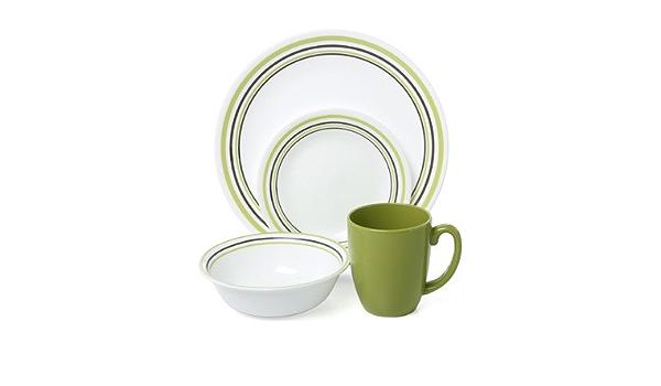 Corelle Livingware Garden Sketch Bands 16 Piece Dinnerware Set Amazon Ca Home Kitchen