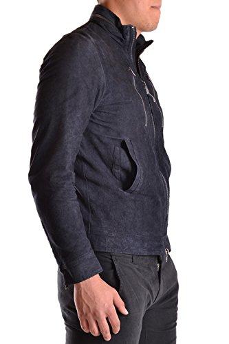 Daniele Alessandrini Homme MCBI086157O Bleu Cuir Veste