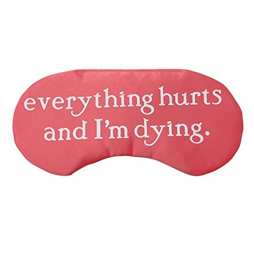 Hangover Sleep Mask Everything Hurts and I'm Dying Bachelorette Party Favors by The Sleepy Cottage
