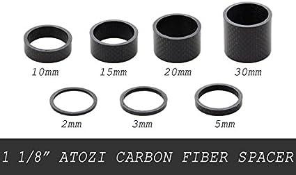 "5,10,15,20 mm 1 1//8/"" 5 New Carbon Fiber Spacers 3"