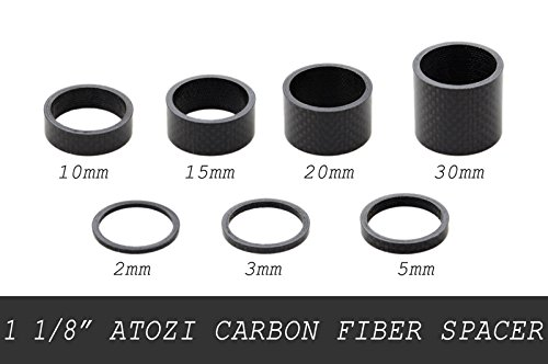 1 1/8'' (28.6mm) ATOZI Carbon Fiber Bike Bicycle Headset Stem Spacer 2/3/5/10/15/20/30mm