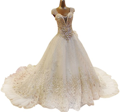 Passat Women's Long Sleeve Tea Length Wedding Dress Size US16 Color White
