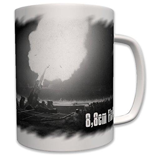 8.8cm cannon Germany military night anti aircraft gun night shot photo - Coffee Cup Mug