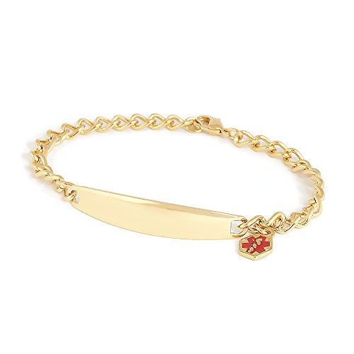 Speidel Medical Alert Medilog Bracelet for Ladies in Gold Tone ()