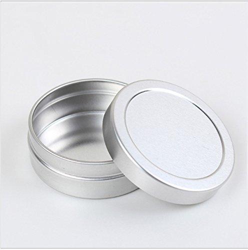 Groupcow 20pcs 10ml Empty Cosmetic Pots Lip Balm Container Jar Silver Aluminum Tins (CM0115 x 20)