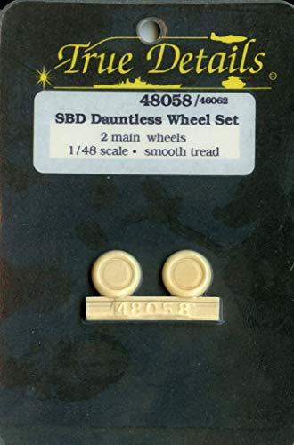 True Details 1:48 SBD Dauntless 2 Main Resin Wheels, used for sale  Delivered anywhere in USA