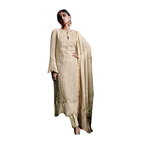 da da Kurti Top Straight Bollywood Girl Completo sposa Donna Salwar Koti donna 2837 Pantalone Party Indian donna New Kamiz Pakistani Kameez Jacket Abito Women da dritto Dirndl Georgette 0vR6xW