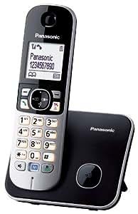 Panasonic KX-TG6811 - Teléfono (DECT, Escritorio, Negro, Plata, Polifónico, Color blanco, Nickel-Metal Hydride (NiMH))