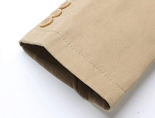 Blazer Da Monopetto Slim Uomo Il Tempo Due Cotone In Fit Casual Con Giacca Libero Bottoni Khaki Bavero Abbigliamento Adelina Per BAzqwd5xA