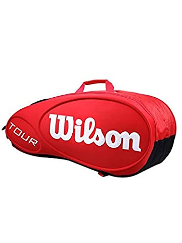 Wilson Tour Molded (9-Pack) Tennis Bag (Red) - Wilson Racket Sports