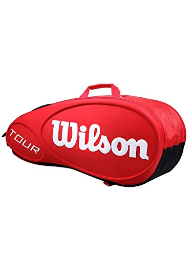 Wilson Tour Molded (9-Pack) Tennis Bag (Red) by Wilson