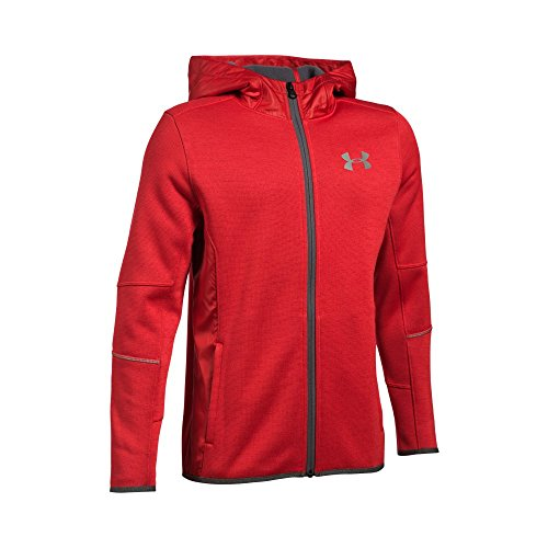 Under Armour Boys' Swacket FZ, Red/Silver, Youth Small