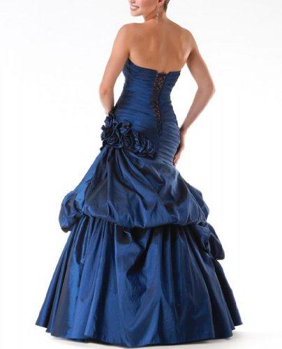 Abhol Koenigsblau GEORGE BRIDE Luxurioeses Vollbusigere Taft Abendkleid wOOXZqf1