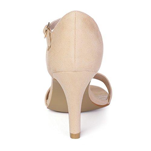 Women's Allegra Scalloped Beige Stiletto 11 Sandals M K US awq1Cwz