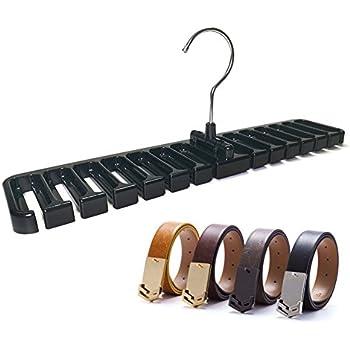 Black Belt Rack Organizer Hanger Holder For Men Closet Belt Storage  Organizer