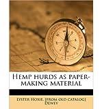 Hemp hurds as paper-making material