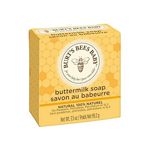 3.5 Ounce Organic Soap - Burt's Bees Baby Buttermilk Soap, 100% Natural Baby Soap Bar, 3.5 Ounce Bar,pack of 3
