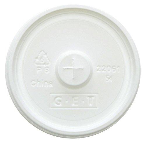 - G.E.T. Tahiti 9/12/16 oz Tumbler White Disposable Lid