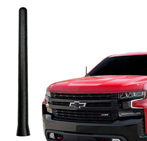 AntennaMastsRus - The Original 6 3/4 INCH is Compatible with Chevrolet Silverado 1500 (2006-2019) - Short Rubber Antenna - Reception Guaranteed - German Engineered - Internal Copper ()