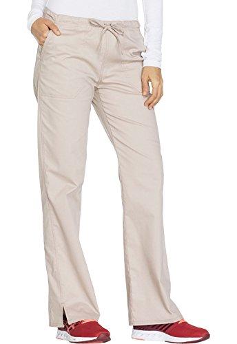 Core Stretch By Cherokee Workwear Women's Drawstring Cargo Scrub Pant Large Khaki - Workwear For Women