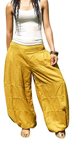 Billy's Thai Shop Women's Salwar Pants Harem Pants Elastic Waist Yoga Aladdin Petite Size - Length 37.4