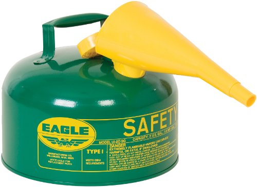Eagle UI-20-FSG Type I Metal Safety Can with F-15 Funnel, Combustibles, 11-1/4