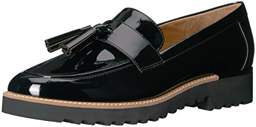 Franco Sarto Women's Carolynn Loafer Flat, Black, 8 M (Women Patent Leather Shoes)