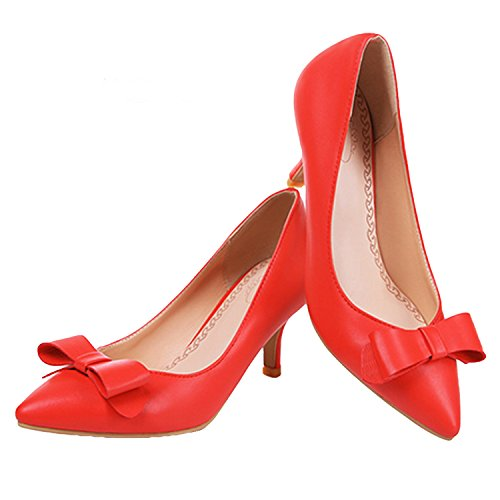 Kitten Synthetic Nonbrand Heel Women's Red Court Shoes pCxqR5wx