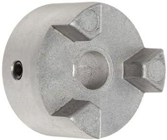 Lovejoy 17915 Size AL100 Jaw Coupling Hub, Aluminum, Inch, 0.5'' Bore, 2.53'' OD, 1.37'' Length Through Bore, 0.125'' x 0.063'' Keyway